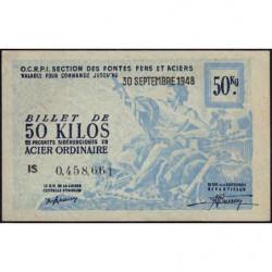 50 kg acier ordinaire - 30-09-1948 - Endossé - Etat : SUP+