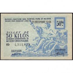 50 kg acier ordinaire - 31-12-1948 - Endossé - Etat : SUP