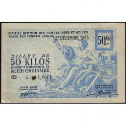 50 kg acier ordinaire - 31-12-1948 - Non endossé - Etat : TB+