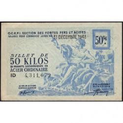 50 kg acier ordinaire - 31-12-1948 - Endossé à Saint-Etienne (42) - Etat : SPL