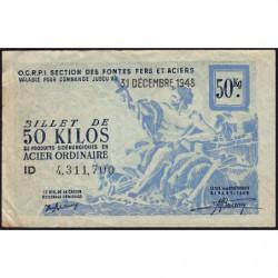 50 kg acier ordinaire - 31-12-1948 - Endossé à Saint-Etienne (42) - Etat : TTB
