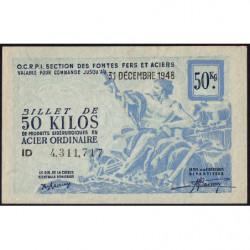 50 kg acier ordinaire - 31-12-1948 - Endossé - Etat : SUP+