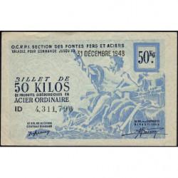 50 kg acier ordinaire - 31-12-1948 - Non endossé - Etat : SPL