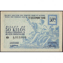 50 kg acier ordinaire - 31-12-1948 - Non endossé - Etat : SUP+