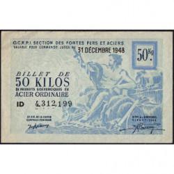 50 kg acier ordinaire - 31-12-1948 - Endossé à Saint-Etienne (42) - Etat : TTB+