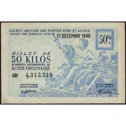 50 kg acier ordinaire - 31-12-1948 - Non endossé - Etat : TTB+