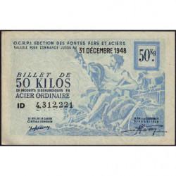 50 kg acier ordinaire - 31-12-1948 - Non endossé - Etat : SUP