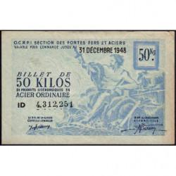 50 kg acier ordinaire - 31-12-1948 - Non endossé - Etat : TTB