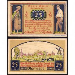 Allemagne - Notgeld - Achim - 25 pfennig - 15/01/1921 - Etat : SPL-