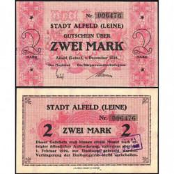 Allemagne - Notgeld - Alfeld - 2 mark - 01/12/1918 - Etat : SPL
