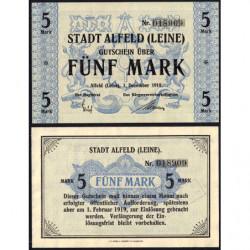 Allemagne - Notgeld - Alfeld - 5 mark - 01/12/1918 - Etat : NEUF