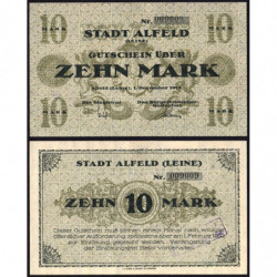 Allemagne - Notgeld - Alfed - 10 mark - 01/12/1918 - Etat : NEUF