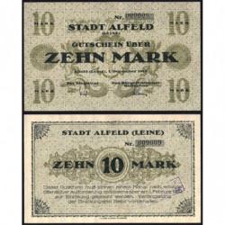 Allemagne - Notgeld - Alfeld - 10 mark - 01/12/1918 - Etat : NEUF