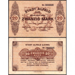 Allemagne - Notgeld - Alfed - 20 mark - 01/12/1918 - Etat : SUP