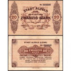 Allemagne - Notgeld - Alfeld - 20 mark - 01/12/1918 - Etat : SUP