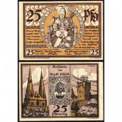 Allemagne - Notgeld - Alfed - 25 pfennig - 01/07/1921 - Etat : SPL