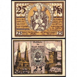 Allemagne - Notgeld - Alfeld - 25 pfennig - 01/07/1921 - Etat : SPL