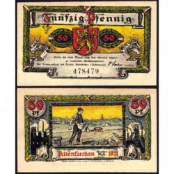 Allemagne - Notgeld - Altenkirchen - 50 pfennig - 1921 - Etat : SPL