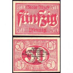 Allemagne - Notgeld - Alzey - 50 pfennig - 01/02/1921 - Etat : NEUF