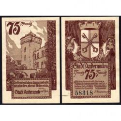 Allemagne - Notgeld - Andernach - 75 pfennig - 01/12/1920 - Etat : SPL