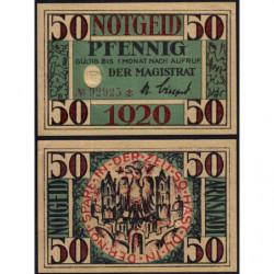 Allemagne - Notgeld - Arnstadt - 50 pfennig - 1920 - Etat : NEUF