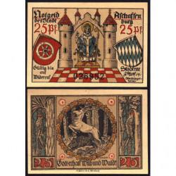 Allemagne - Notgeld - Aschaffenburg - 25 pfennig - Sans date (1920) - Etat : NEUF