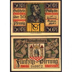 Allemagne - Notgeld - Aschaffenburg - 50 pfennig - 1920 - Etat : SPL