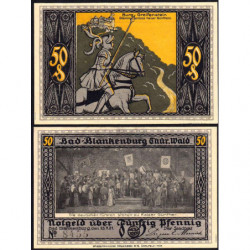 Allemagne - Notgeld- Bad Blankenburg - 50 pfennig - 23/07/1921 - Etat : SPL