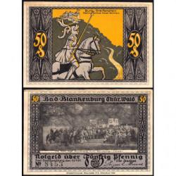 Allemagne - Notgeld- Bad Blankenburg - 50 pfennig - 23/07/1921 - Etat : SUP