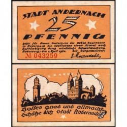 Allemagne - Notgeld - Andernach - 25 pfennig - 01/04/1920 - Etat : TTB