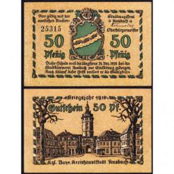 Allemagne - Notgeld- Ansbach - 50 pfennig - 31/12/1918 - Etat : NEUF