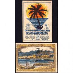 Allemagne - Notgeld - Berlin - Colonies allemandes - 75 pfennig - Série A - 31/03/1922 - Etat : TB+