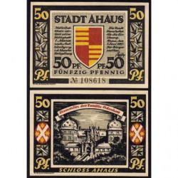 Allemagne - Notgeld - Ahaus - 50 pfennig - 07/06/1921 - Etat : SPL