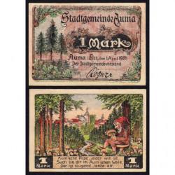Allemagne - Notgeld - Auma - 1 mark - 01/04/1921 - Etat : SPL