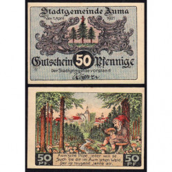 Allemagne - Notgeld - Auma - 50 pfennig - 01/04/1921 - Etat : SPL