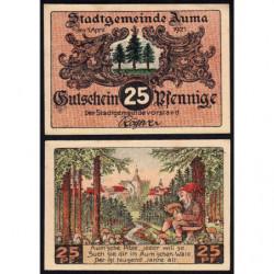 Allemagne - Notgeld - Auma - 25 pfennig - 01/04/1921 - Etat : SPL