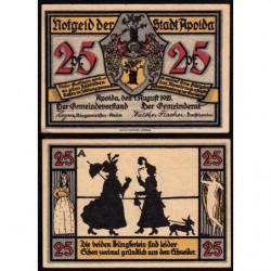 Allemagne - Notgeld - Apolda - 25 pfennig - Série A - 01/08/1921 - Etat : SPL