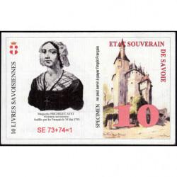 Billet savoisien - 10 Livres savoisiennes - 1998 - 1ère émission - Etat : NEUF