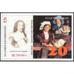 Billet savoisien - 20 Livres savoisiennes - 1998 - 1ère émission - Type a - Etat : NEUF