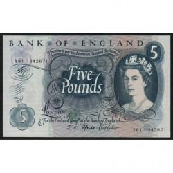 Grande-Bretagne - Pick 375b1 - 5 pounds - 1967 - Etat : pr.NEUF