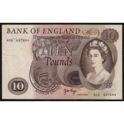 Grande-Bretagne - Pick 376cr (remplacement) - 10 pounds - 1970 - Etat : TTB