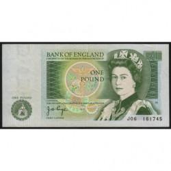 Grande-Bretagne - Pick 377a1 - 1 pound - 1978 - Etat : SUP