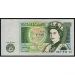 Grande-Bretagne - Pick 377a2 - 1 pound - 1978 - Etat : TTB