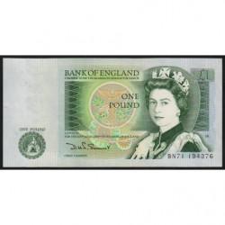 Grande-Bretagne - Pick 377b - 1 pound - 1980 - Etat : TTB+