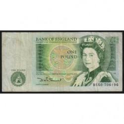 Grande-Bretagne - Pick 377b - 1 pound - 1980 - Etat : TB-