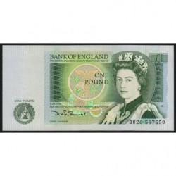 Grande-Bretagne - Pick 377b - 1 pound - 1980 - Etat : NEUF