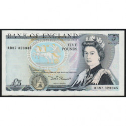 Grande-Bretagne - Pick 378e - 5 pounds - 1987 - Etat : NEUF