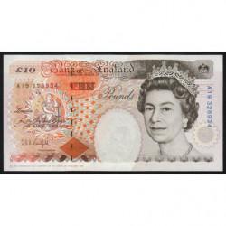 Grande-Bretagne - Pick 383a - 10 pounds - 1992 - Etat : pr.NEUF