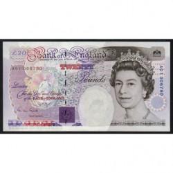 Grande-Bretagne - Pick 384a - 20 pounds - 1991 - Etat : pr.NEUF