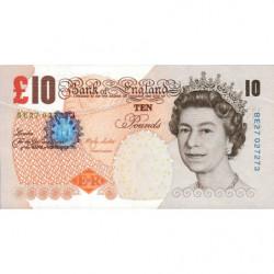 Grande-Bretagne - Pick 389b - 10 pounds - 2000 - Etat : pr.NEUF